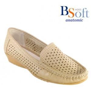 γυναικεια παπουτσια ΜΟΚΑΣΙΝΙ ΤΡΥΠΙΤΟ B-SOFT I ΣΙΝΔΟΣ